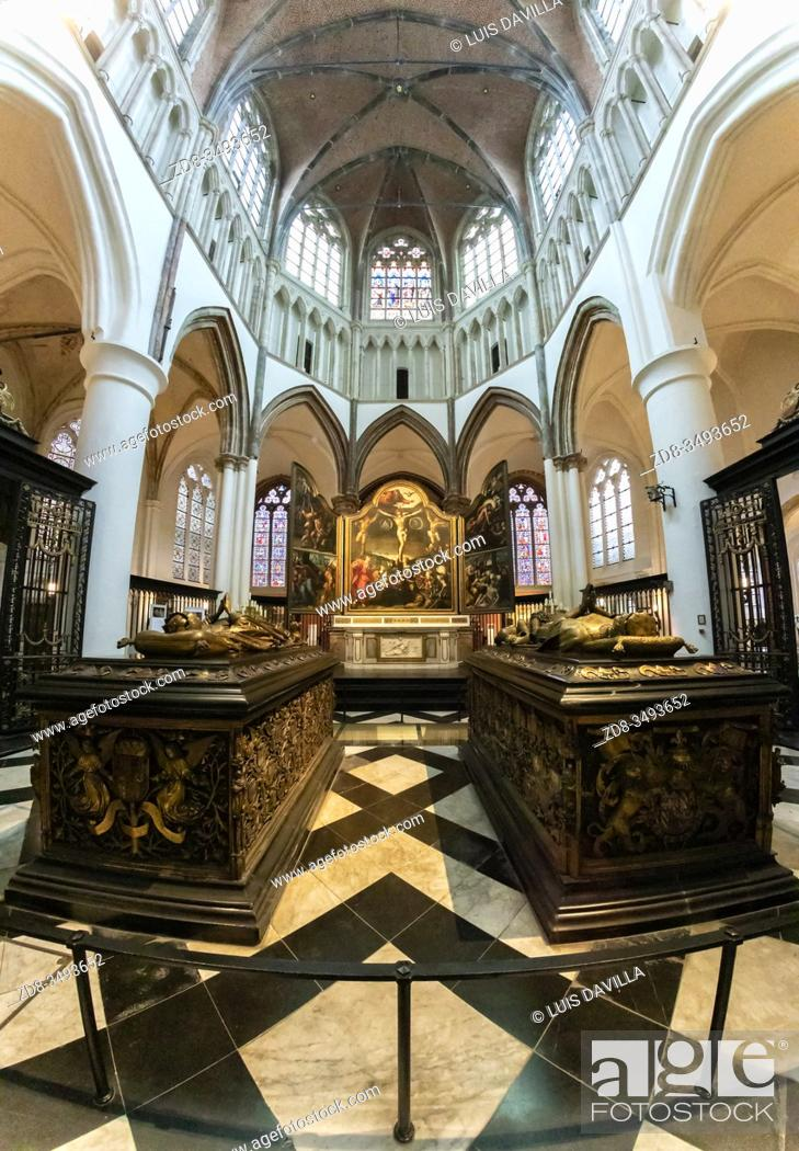 Stock Photo: Tombs of Mary of Burgundy and Charles the Bold in the Church of Our Lady. Bruges. Belgium.