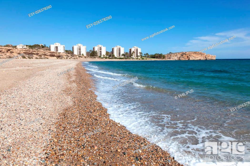 Stock Photo: Coast in Puerto de Mazarron, Region Murcia, Costa Calida, Spain.