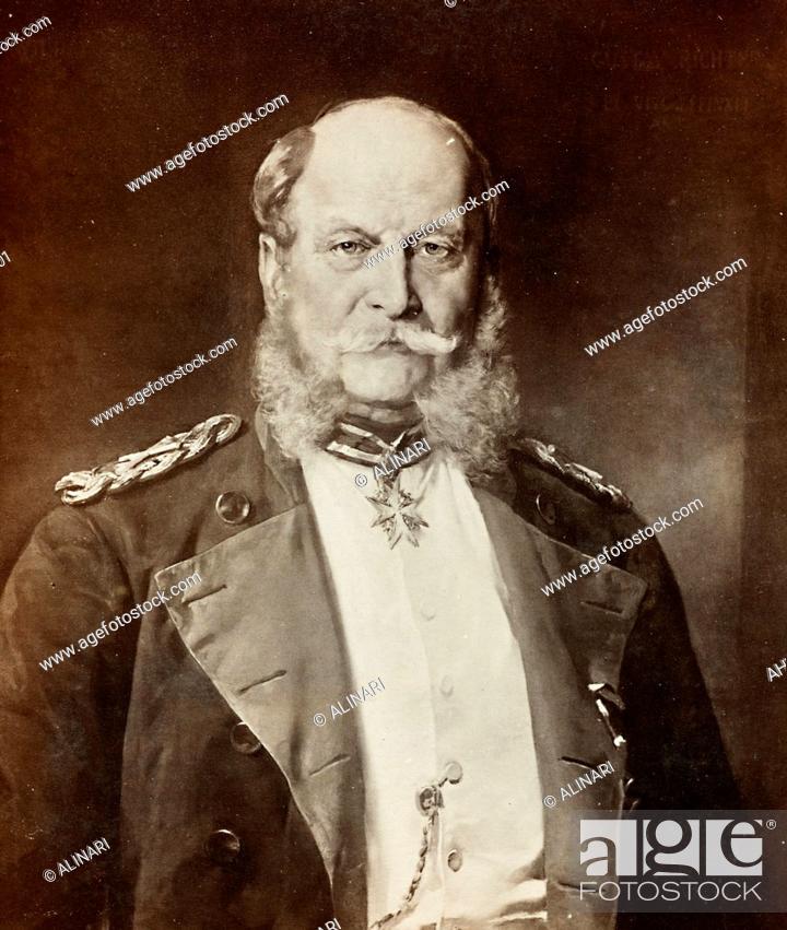Imagen: Portrait of Kaiser Wilhelm I in uniform, painted by G. Richter, shot 1900-1910 by Photographische Gesellschaft.