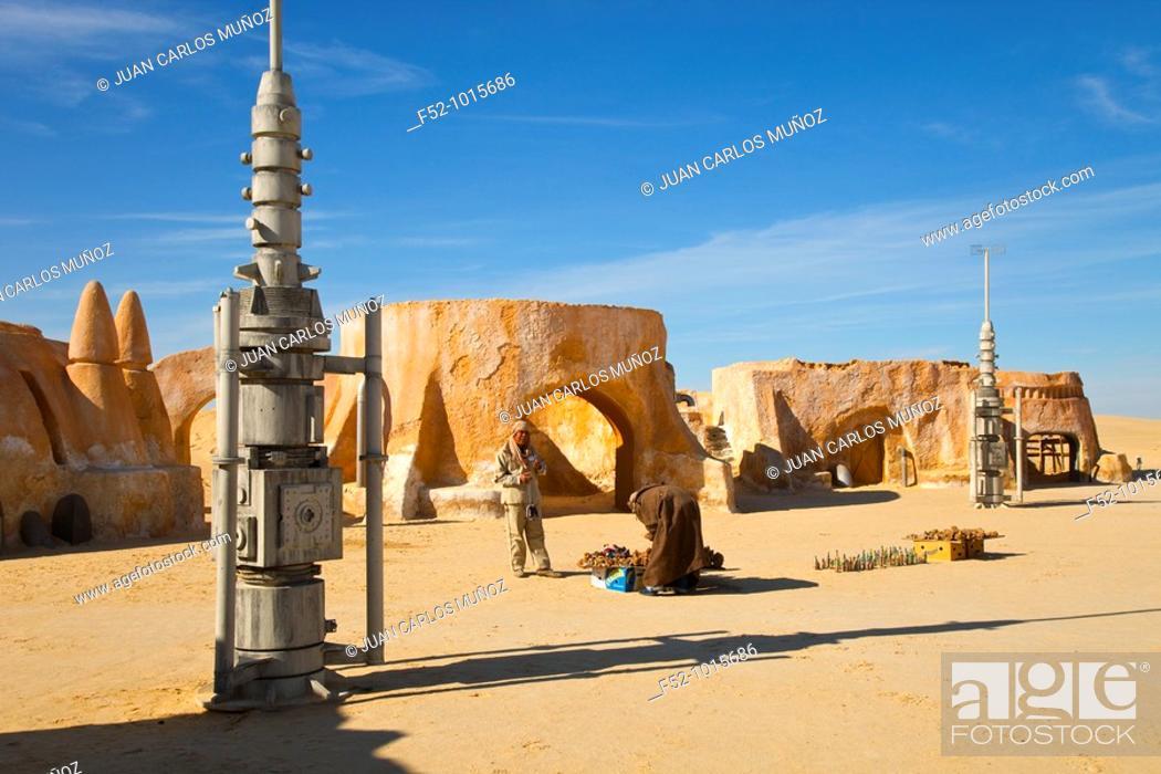 Stock Photo: Scene of Star Wars. Salt Lake or 'Chott' Ell Yerid. Nelta. Desert of Southern Tunisia. Tunez. Africa.