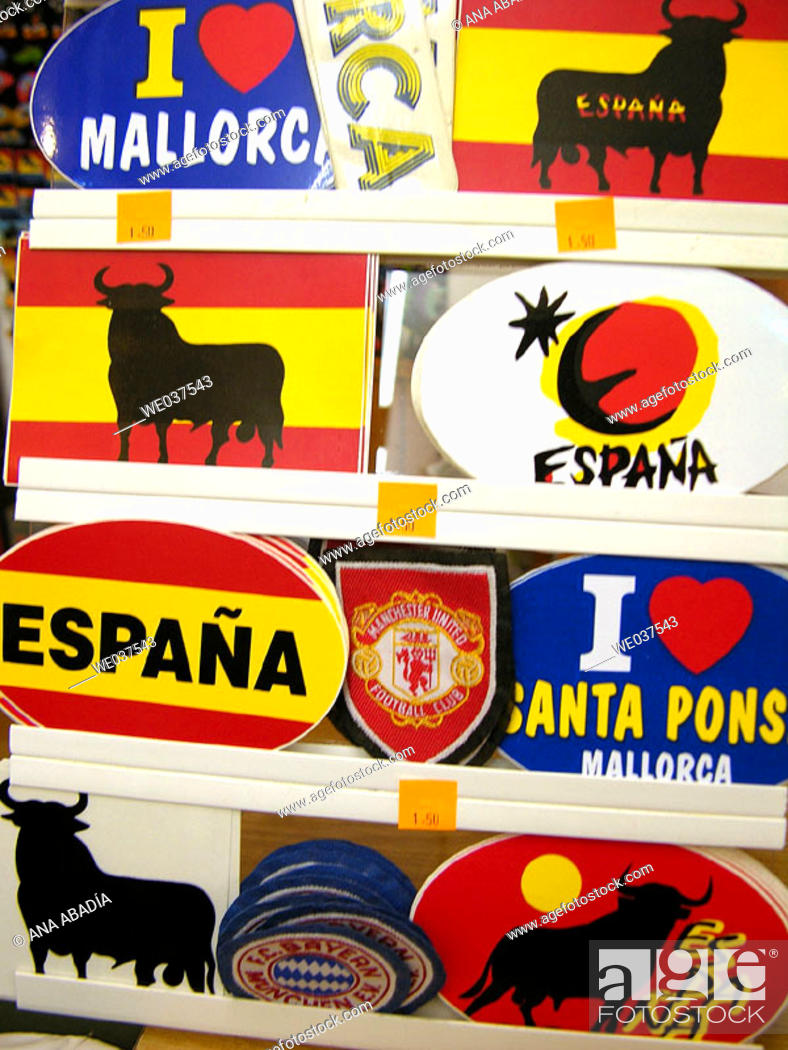 Stock Photo: Sticks for sale. Majorca, Balearic Islands, Spain.