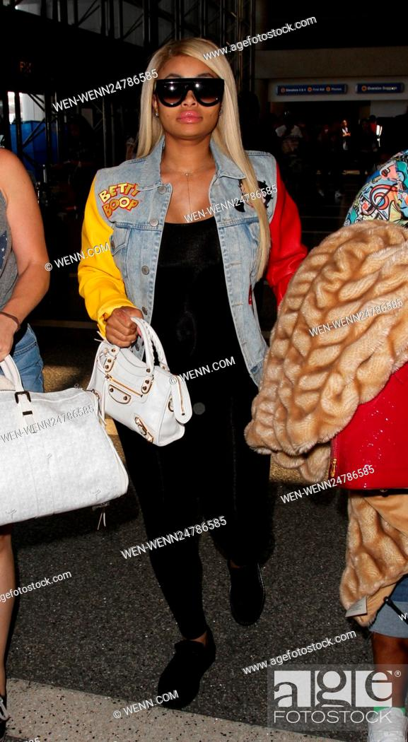 0dc0f6cf1c5 Stock Photo - Blac Chyna arrives at Los Angeles International Airport  Featuring  Blac Chyna Where  Los Angeles