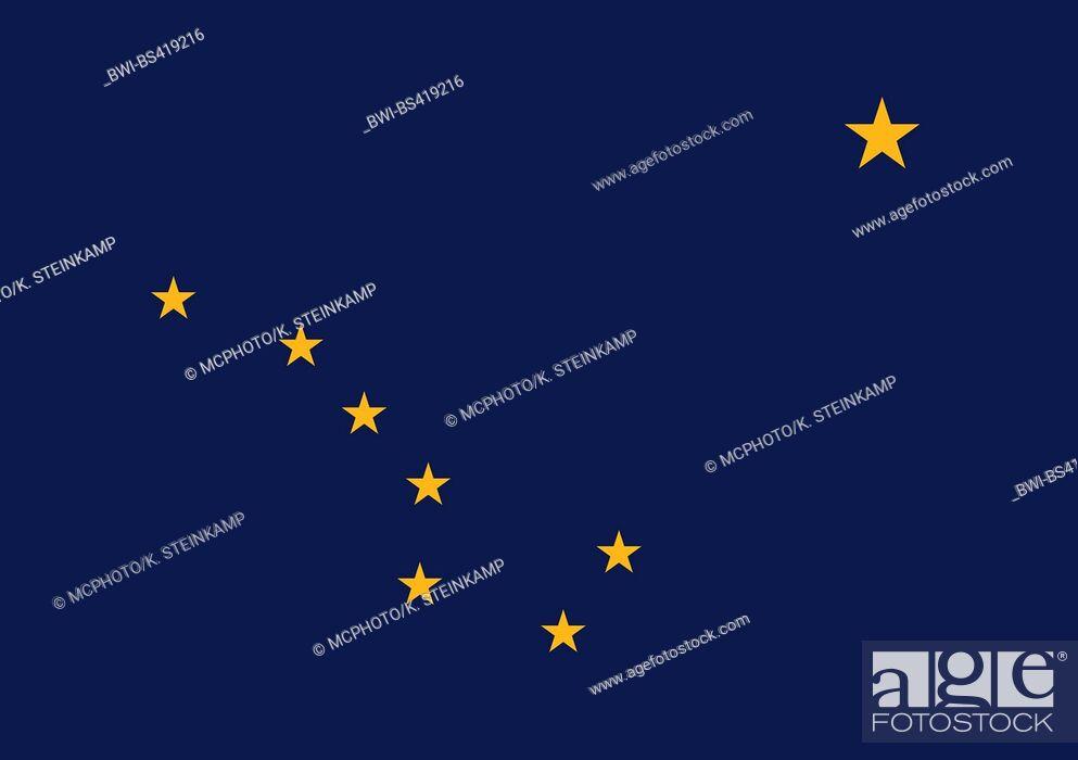 Imagen: flag of Alaska, Alaska.