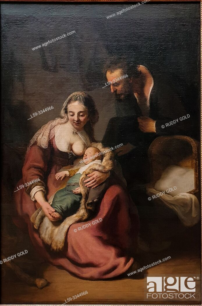 Imagen: 'The Holy Family', 1634, by Rembrandt Harmenszoon van Rijn (1606-1669).