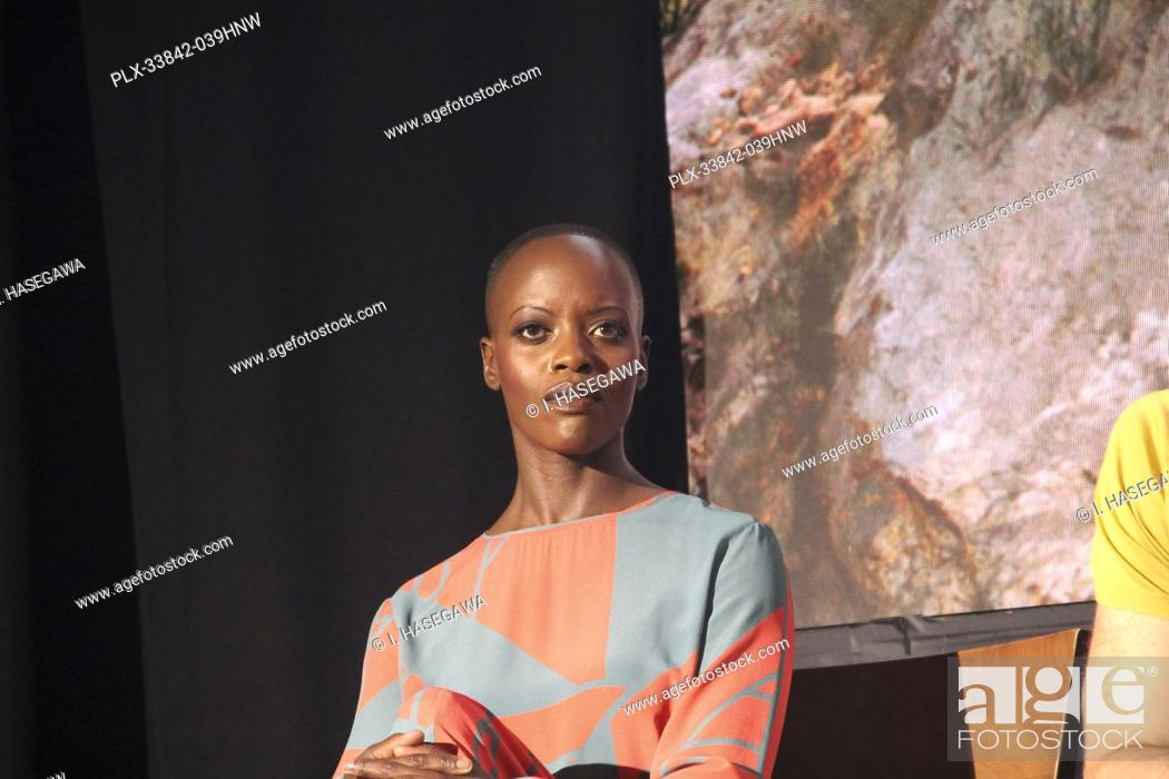 """Stock Photo: Florence Kasumba 07/10/2019 """"""""The Lion King"""""""" Press Conference held at the Montage Beverly Hills Luxury Hotel in Beverly Hills, CA. Photo by I."""
