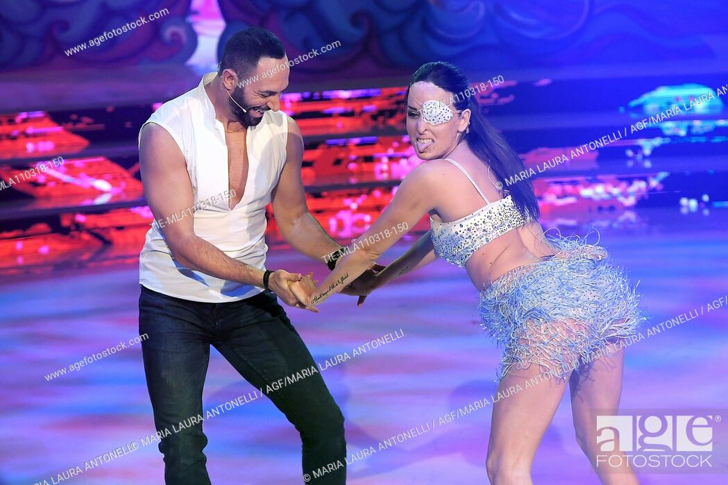 Stefano Oradei Gessica Notaro During The Talent Show Dancing With