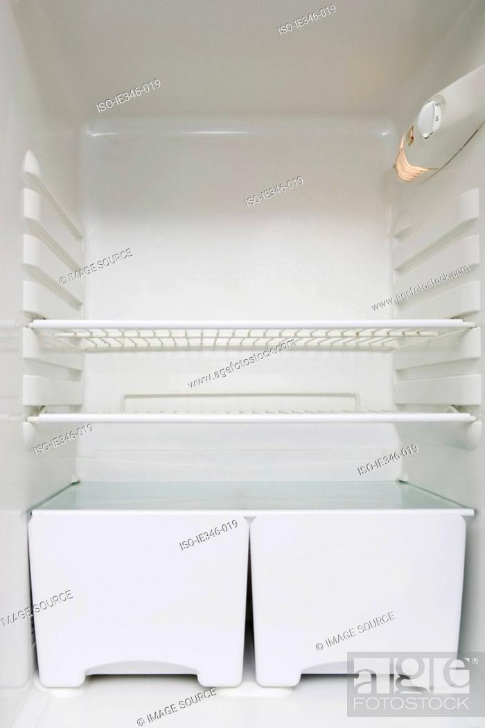 Stock Photo: Empty fridge.
