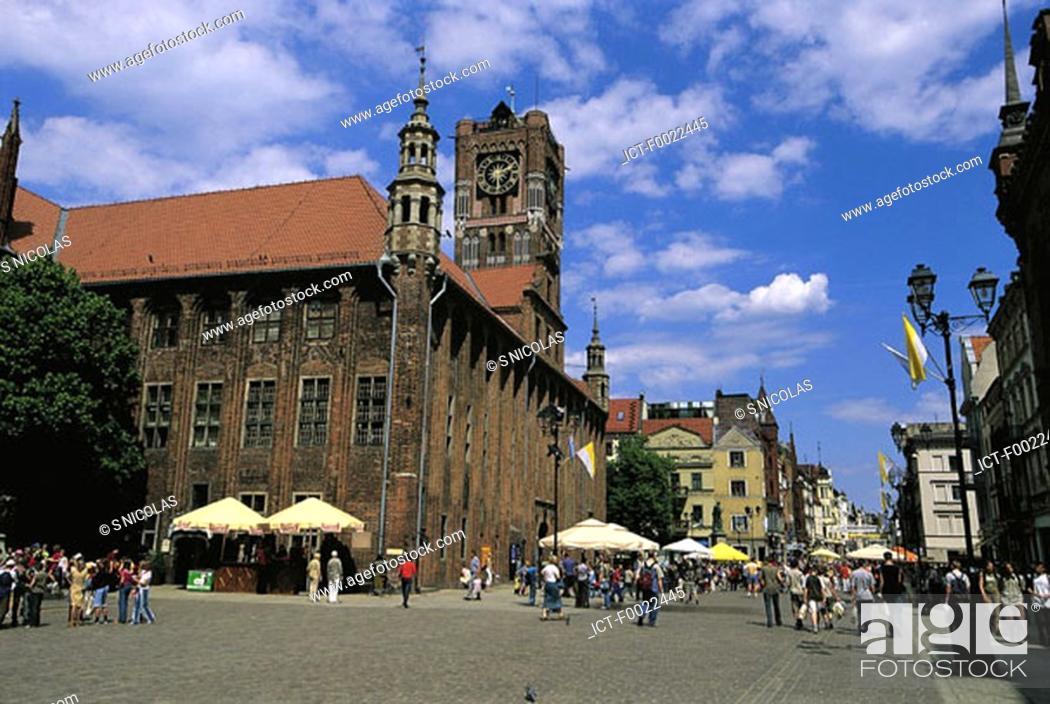 Stock Photo: Poland, Torun, City hall.
