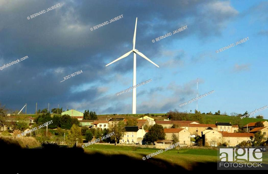 Stock Photo: Windfarm.