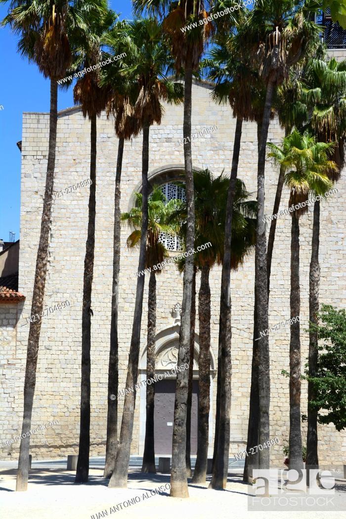 Stock Photo: Santa Susanna del Mercadal Church. City of Girona, Catalonia, Spain, Europe.