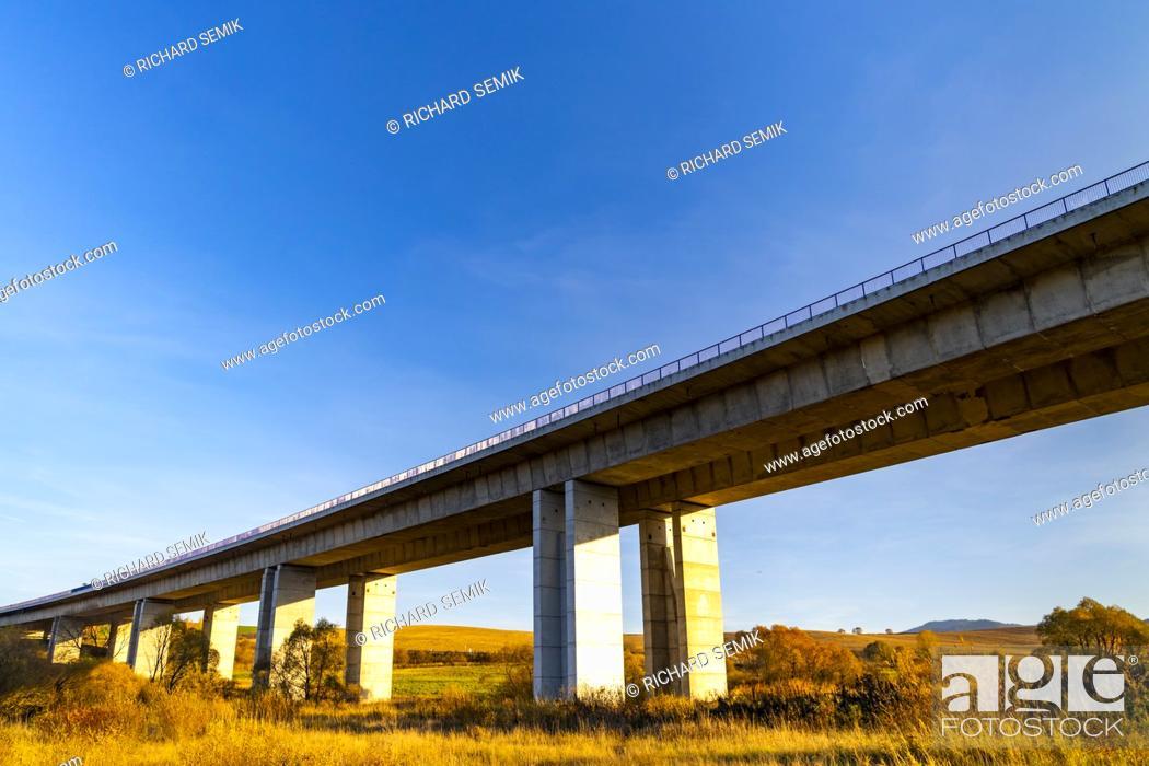 Stock Photo: highway under high Tatras in Slovakia.