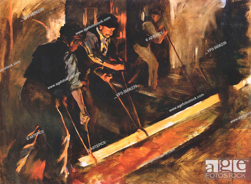Imagen: Forbes Stanhope Alexander - Forging Steel (the Steel MILL) - British School - 19th Century.