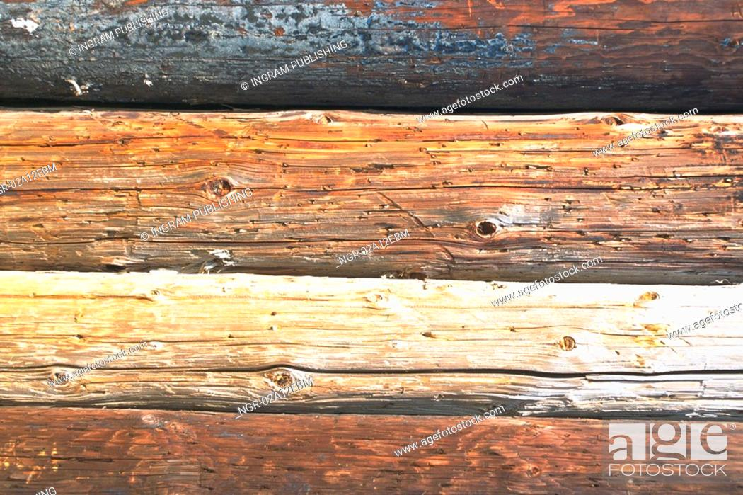 Stock Photo: Close-up of wooden planks.