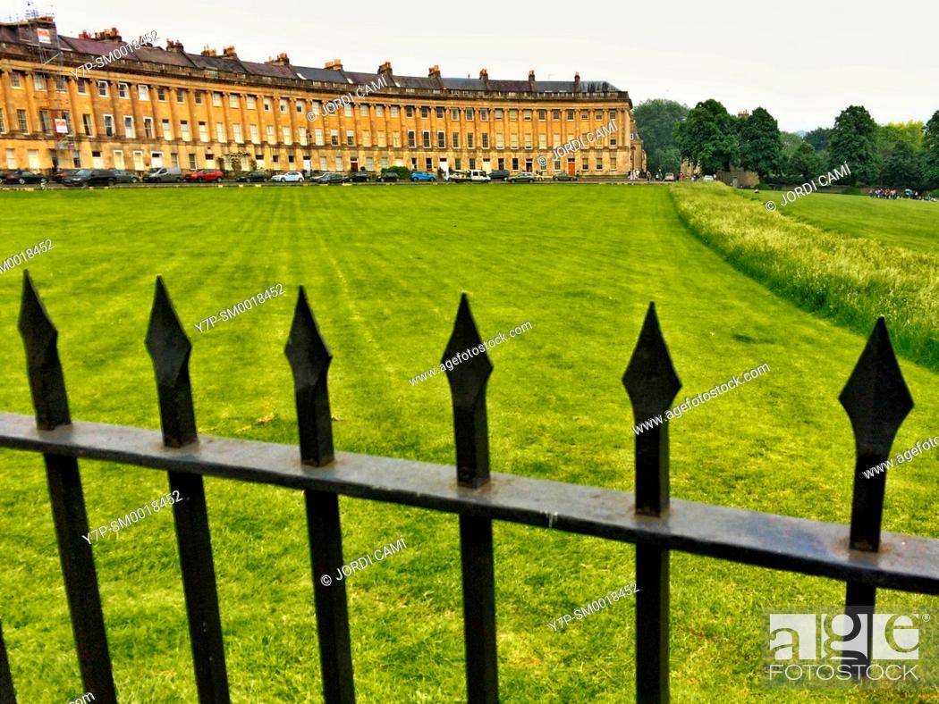 Stock Photo: The Royal Crescent , Bath. Somerset. England. United Kingdom.