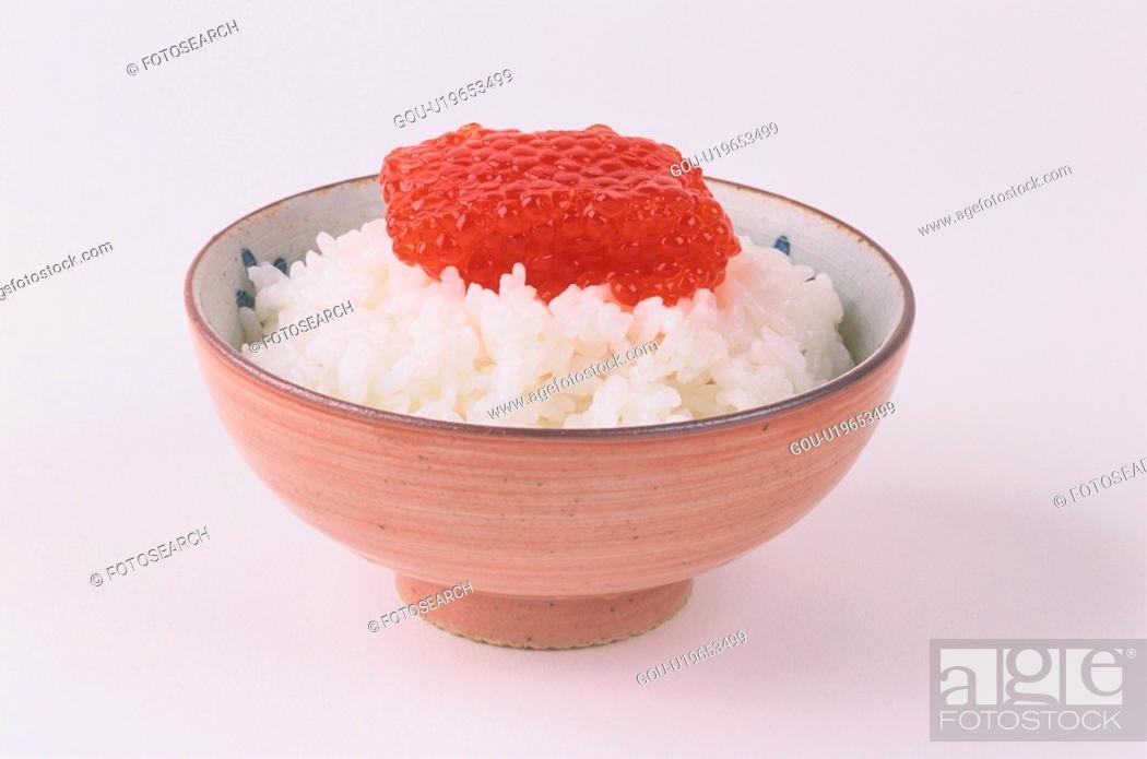 Stock Photo: Rice Dish Topped With Roe.