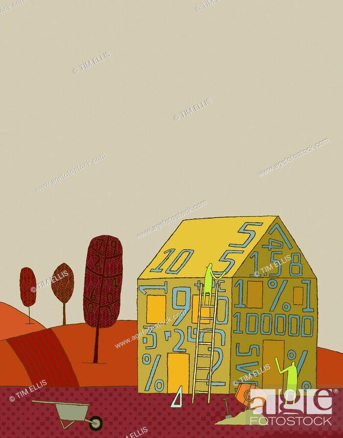 Imagen: Couple building house.