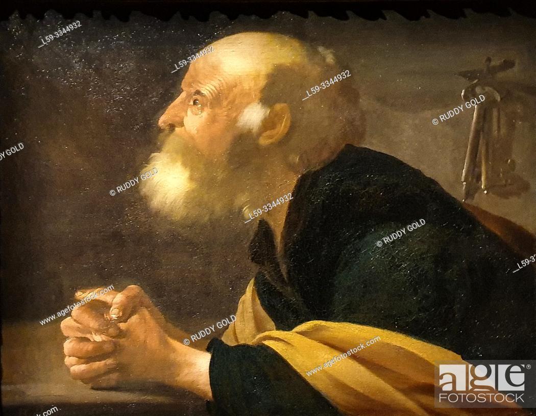 Imagen: 'The Penitent Saint Peter', 1616, Hendrick ter Brugghen (1588-1629).