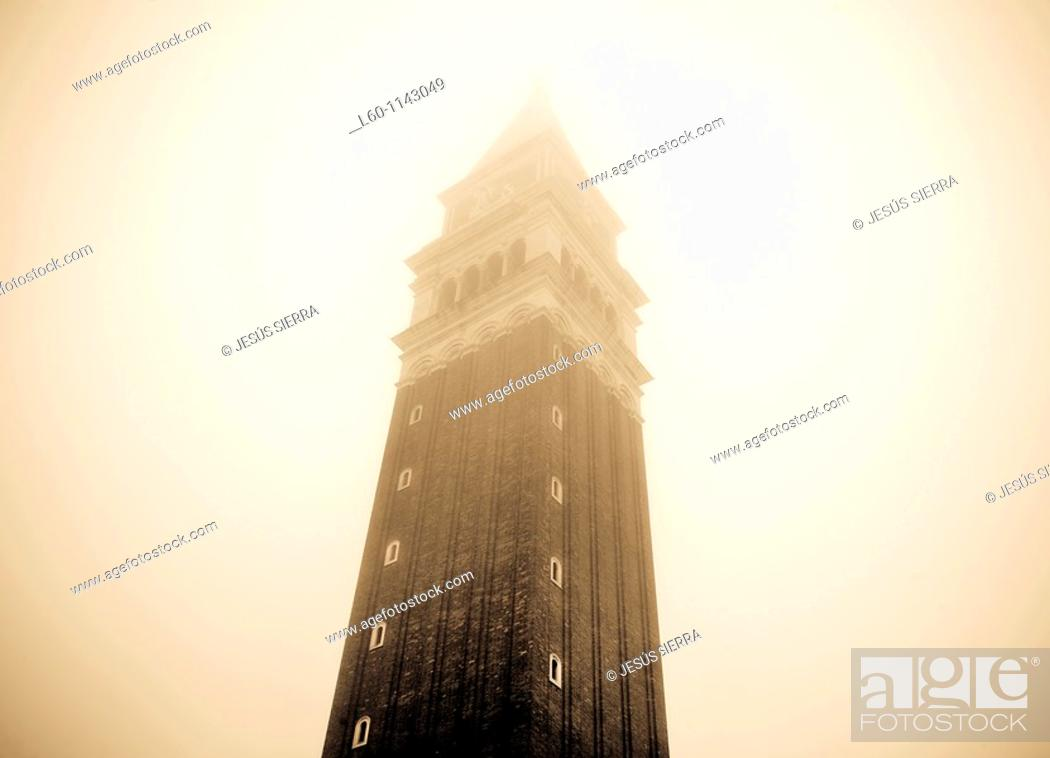 Stock Photo: Fog in Campanile.