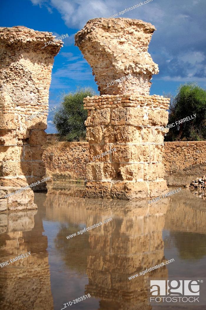 Stock Photo: ruins of carthage Tunisia.