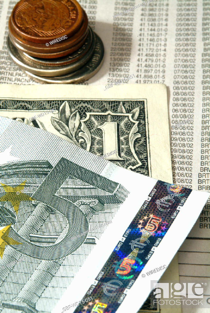 Stock Photo: Businesses Concepts II, dollar, euro, Brazil.