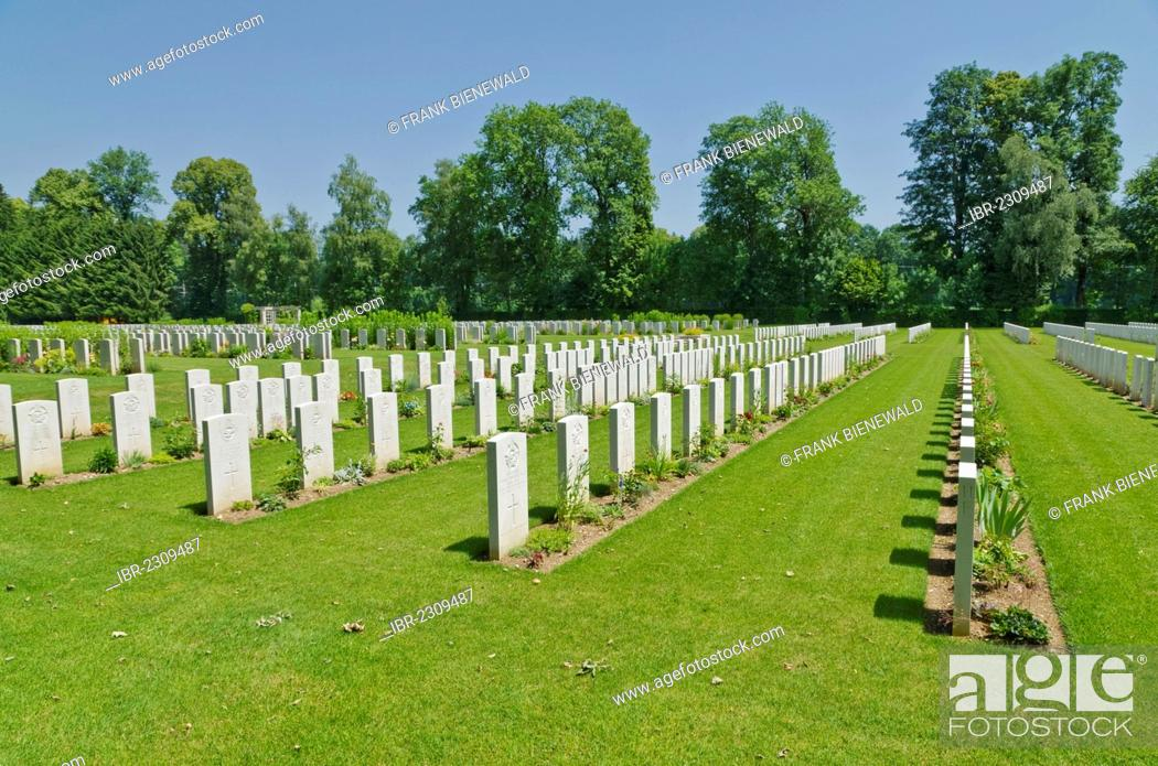 Stock Photo: Durnbach War Cemetery, the final resting place for 2960 soldiers who died in WW2, Duernbach, Gmund am Tegernsee, Bavaria, Germany, Europe.