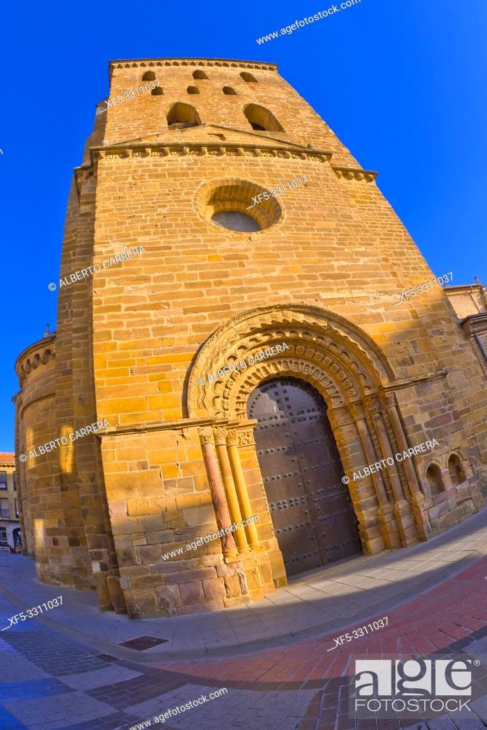 Stock Photo: Church of Santa María del Azogue, 11-16th Century, Benavente, Zamora, Castilla y León, Spain, Europe.