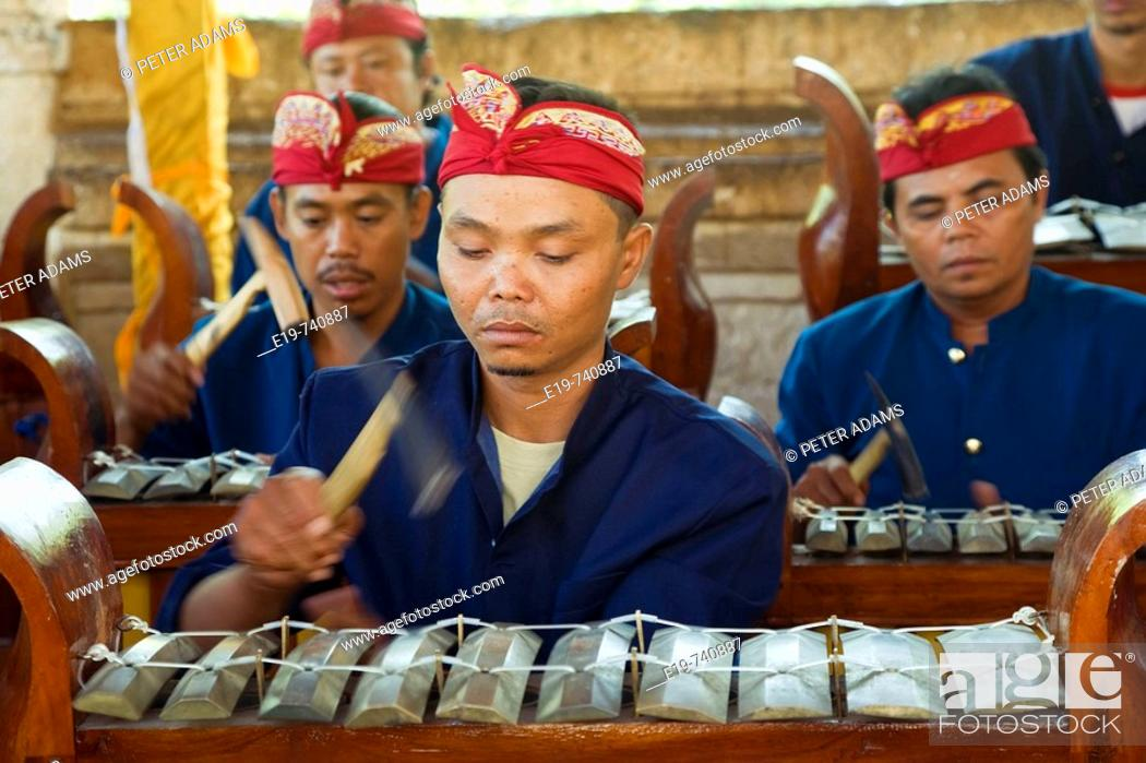 Stock Photo: Gamelan Orchestra, Bali, Indonesia.