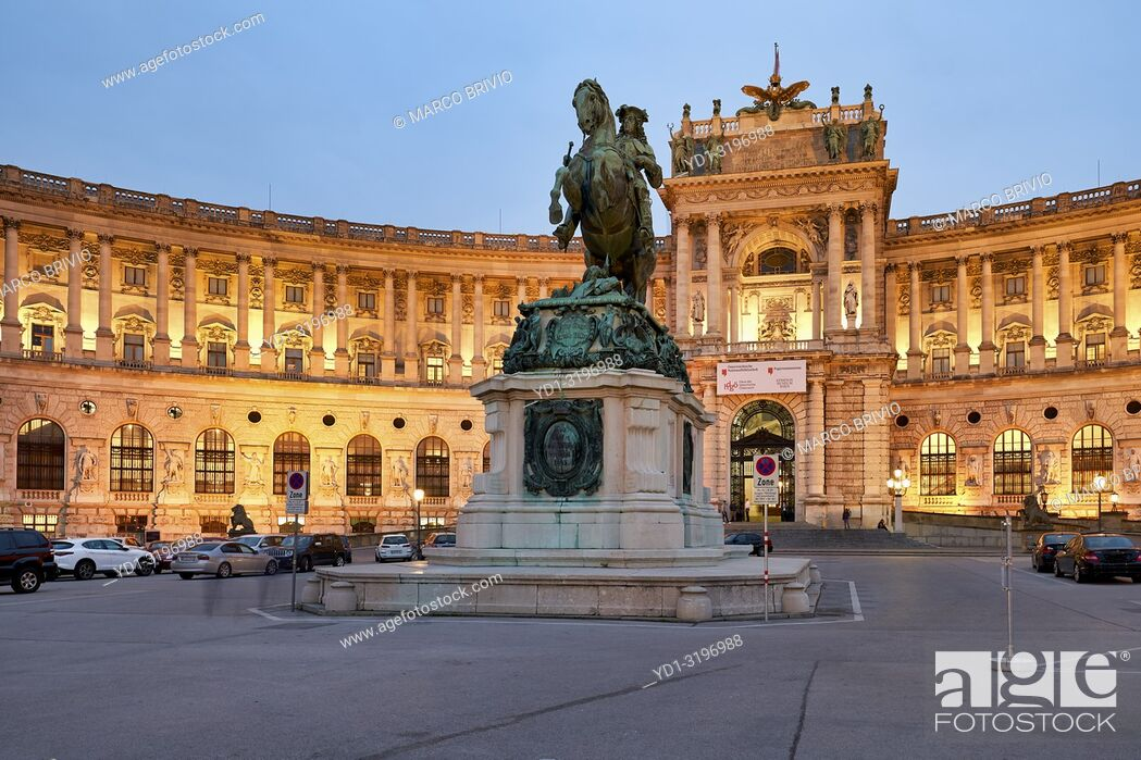 Stock Photo: Neue Burg Museum complex at Hofburg Imperial Palace. Vienna Austria.