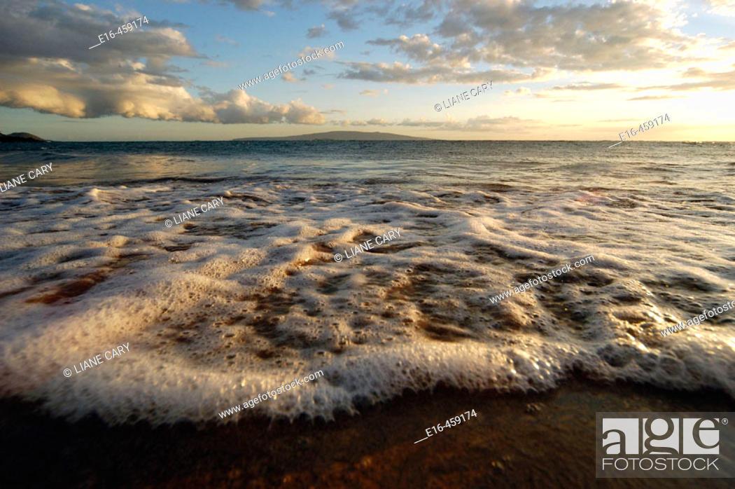 Stock Photo: Beach sunset, Hawaii. USA.