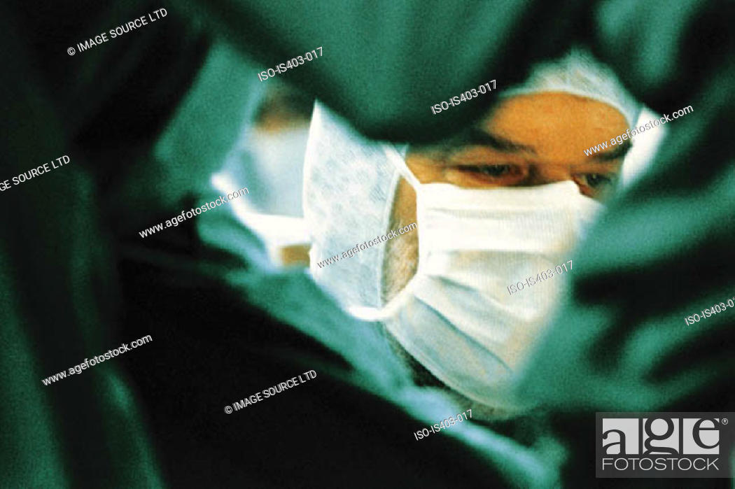 Stock Photo: Male surgeon.