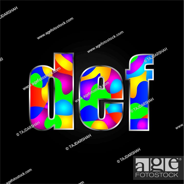 Stock Photo: Colorful Alphabet vector illustration.