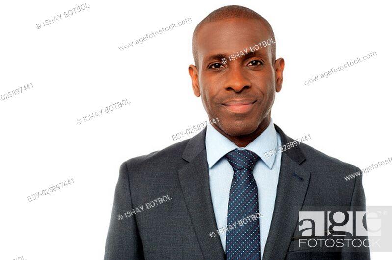 Photo de stock: Portrait of a smiling businessman.