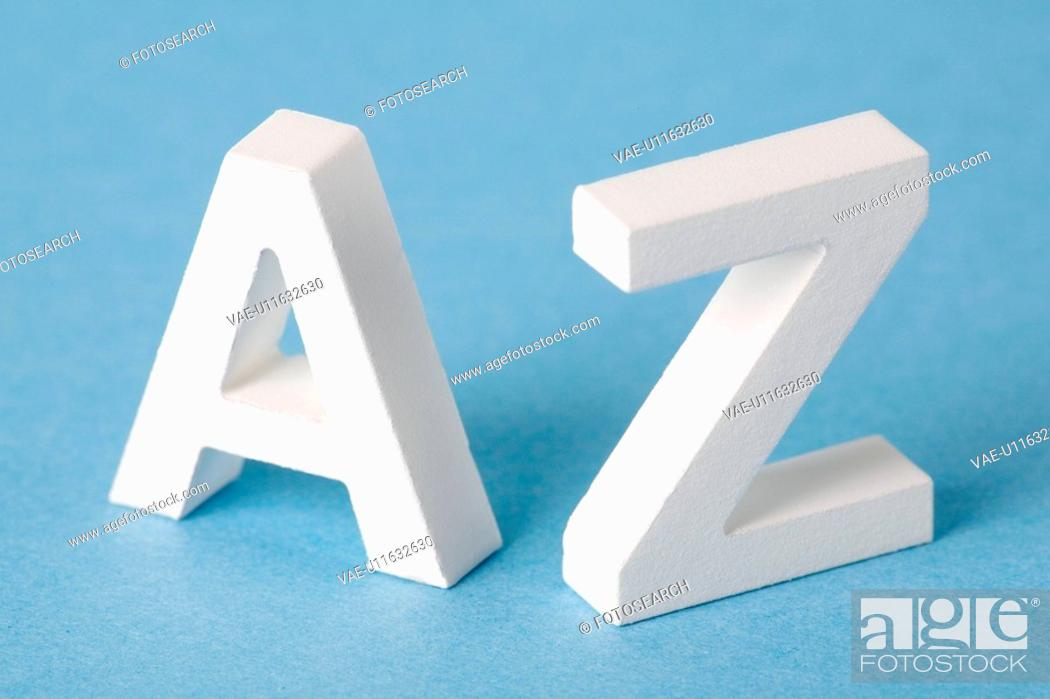 Stock Photo: Letters A and Z.