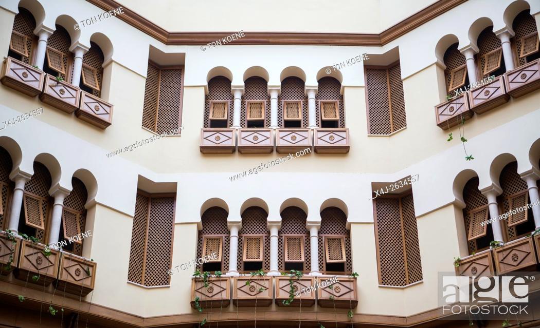 Stock Photo: balcony at a traditional Tunisian house.
