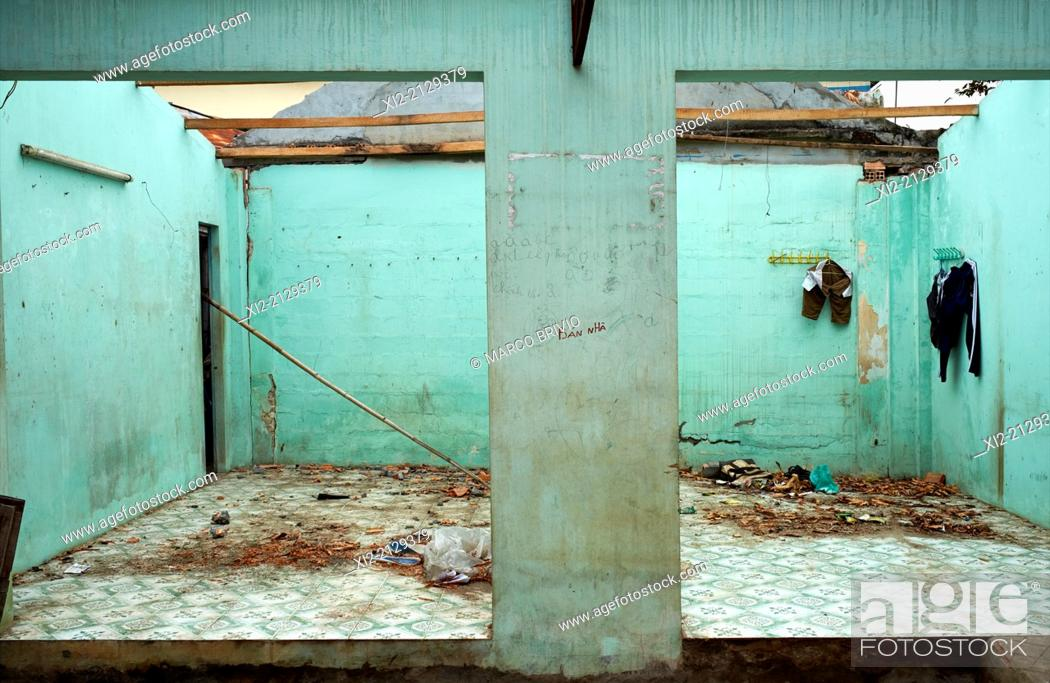 Stock Photo: An abandoned house. Phu Quoc Island, Vietnam.