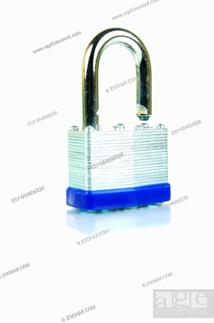 Photo de stock: Security padlocks isolated against a white background.