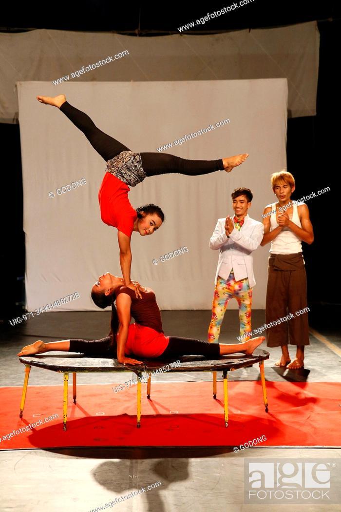 Stock Photo: Phare Ponleu Selpak Cabaret show in Battambang.