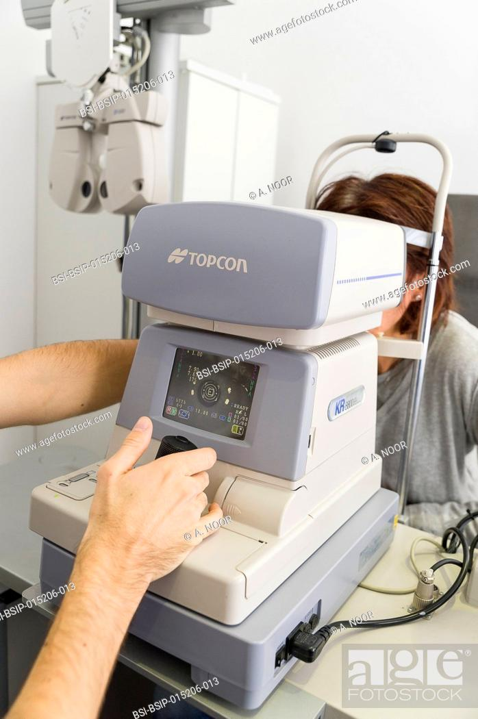 Stock Photo: Reportage at the New Vision clinic in Nice, France. This clinic is one of the main centres for refractive surgery in France.