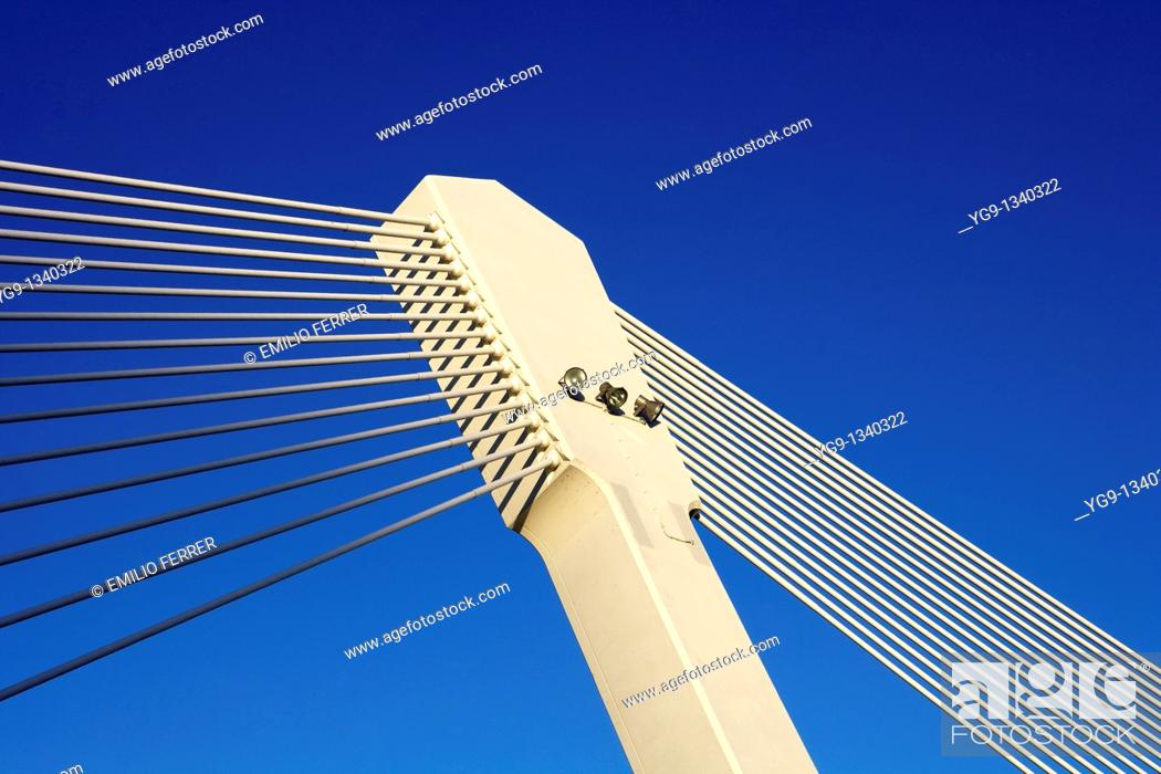Stock Photo: Princep de Viana Bridge  LLeida, Spain.