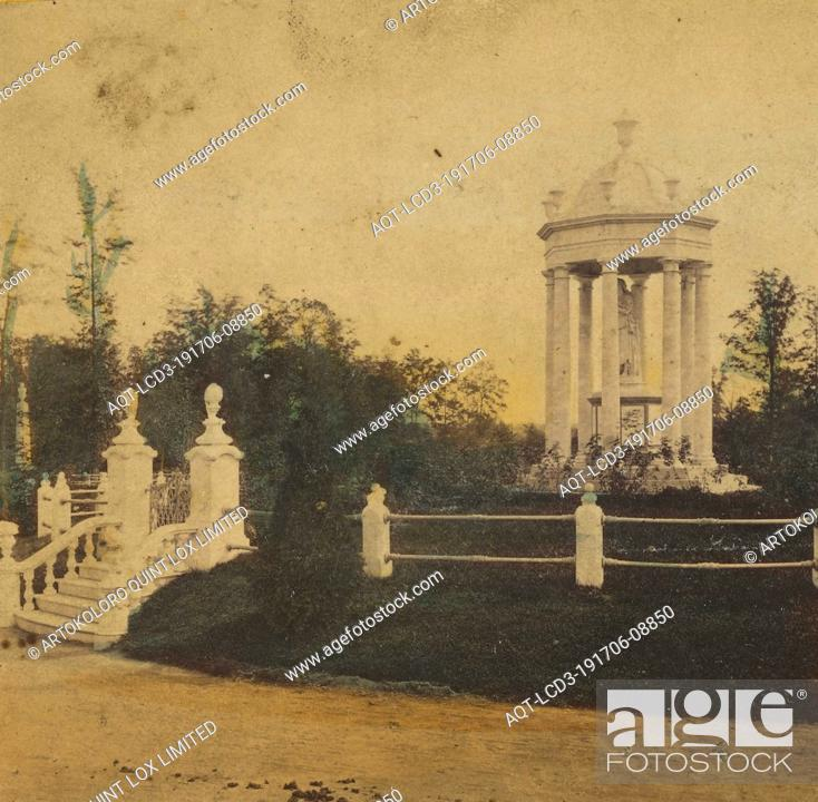 Stock Photo: Greenwood Cemetery. Monument of A.S. Scribner, Cypress Avenue., Edward and Henry T. Anthony & Co. (American, 1862 - 1902), about 1864.