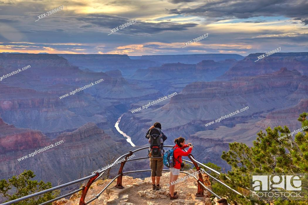 Stock Photo: Grand Canyon seen from Mohave Point, South Rim, Arizona, United States.