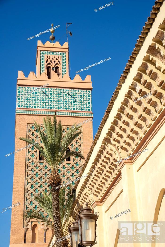 Stock Photo: el Mansour mosque in Marrakech, Morocco.