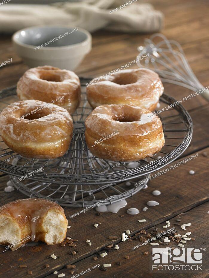 Stock Photo: donuts caseros / Homemade Donuts.