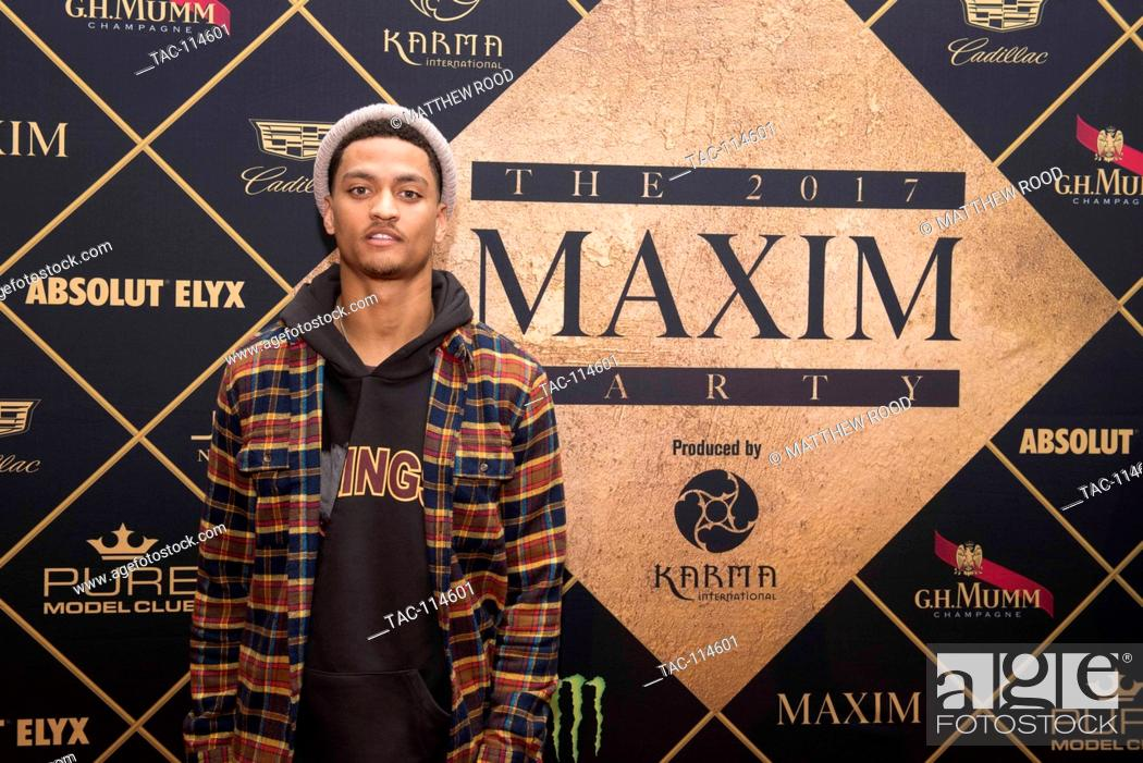Stock Photo - Kevin Johnson attends the red carpet at the 2017 Maxim Party for Super Bowl LI at Smart Financial Centre on February 4, 2017 in Houston, ...