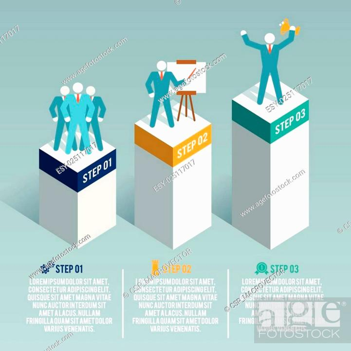 Stock Vector: Leadership infographic set.