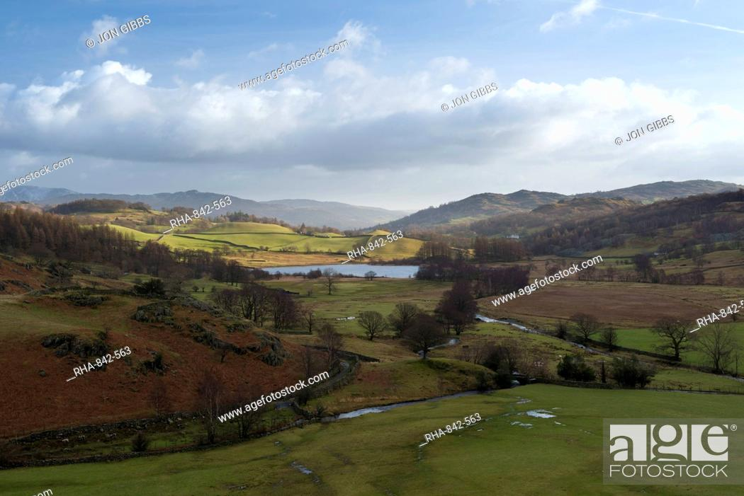 Stock Photo: A view of Little Langdale, Lake District National Park, Cumbria, England, United Kingdom, Europe.