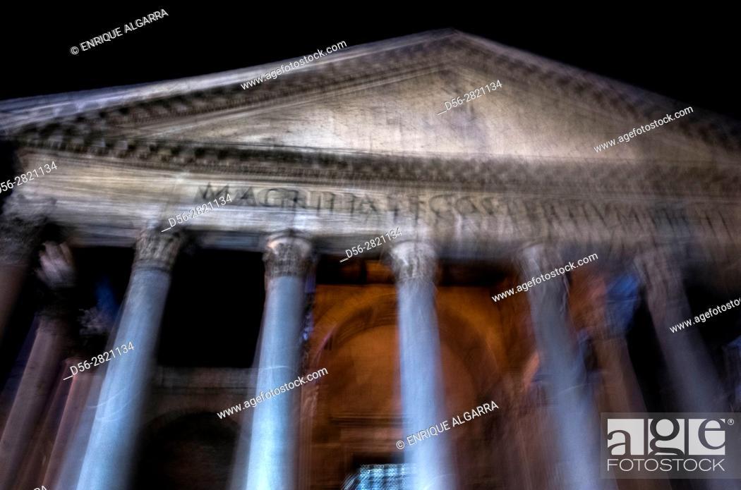 Stock Photo: Domus Pantheon, Rome, Italy.