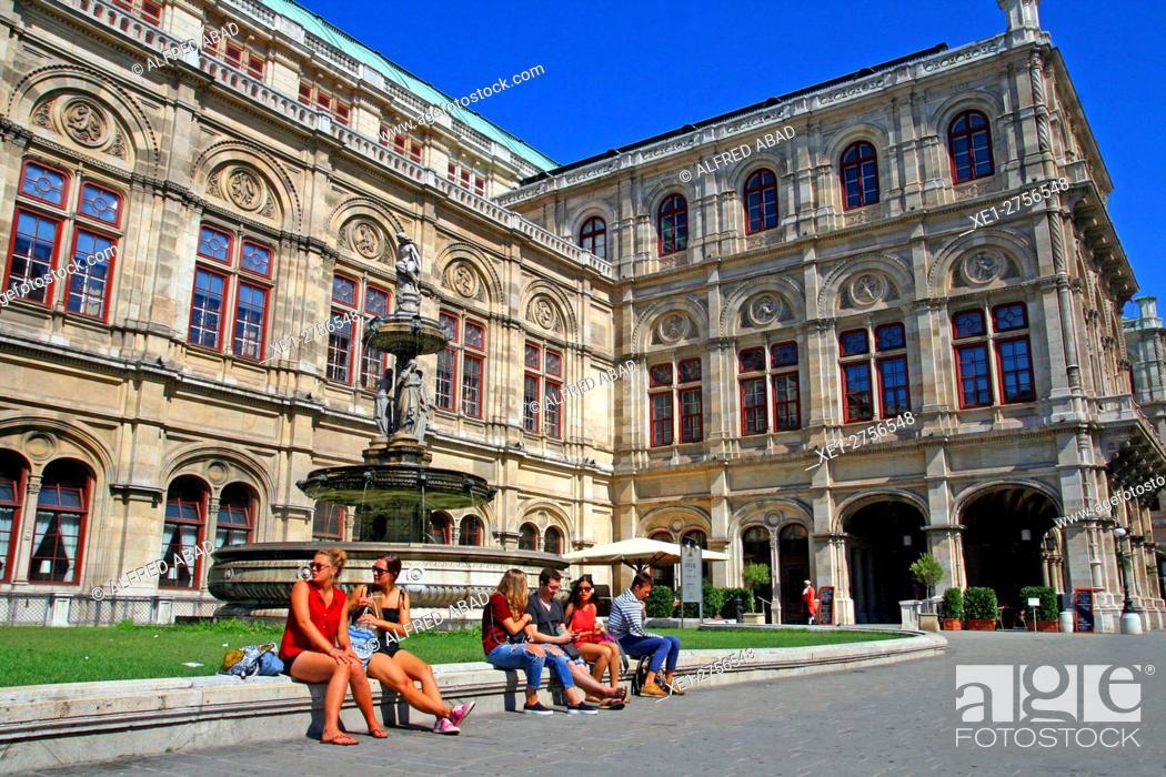 Stock Photo: Building of the State Opera, Vienna, Austria.