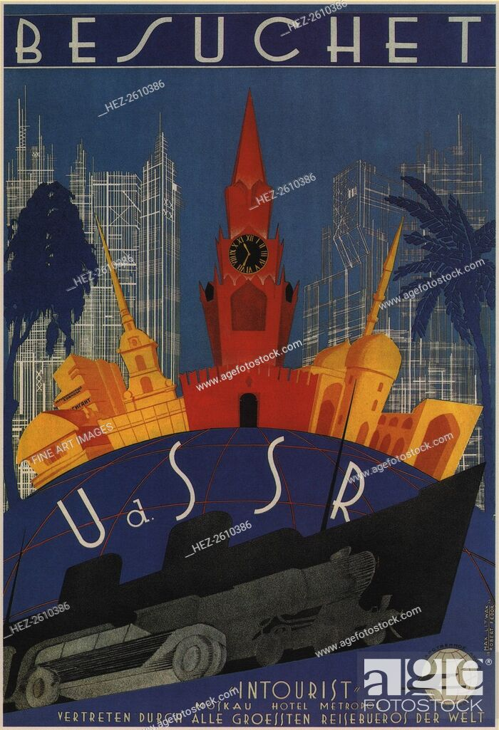 Stock Photo: Visit to the USSR, 1930. Artist: Litvak, Max (1898-after 1943).