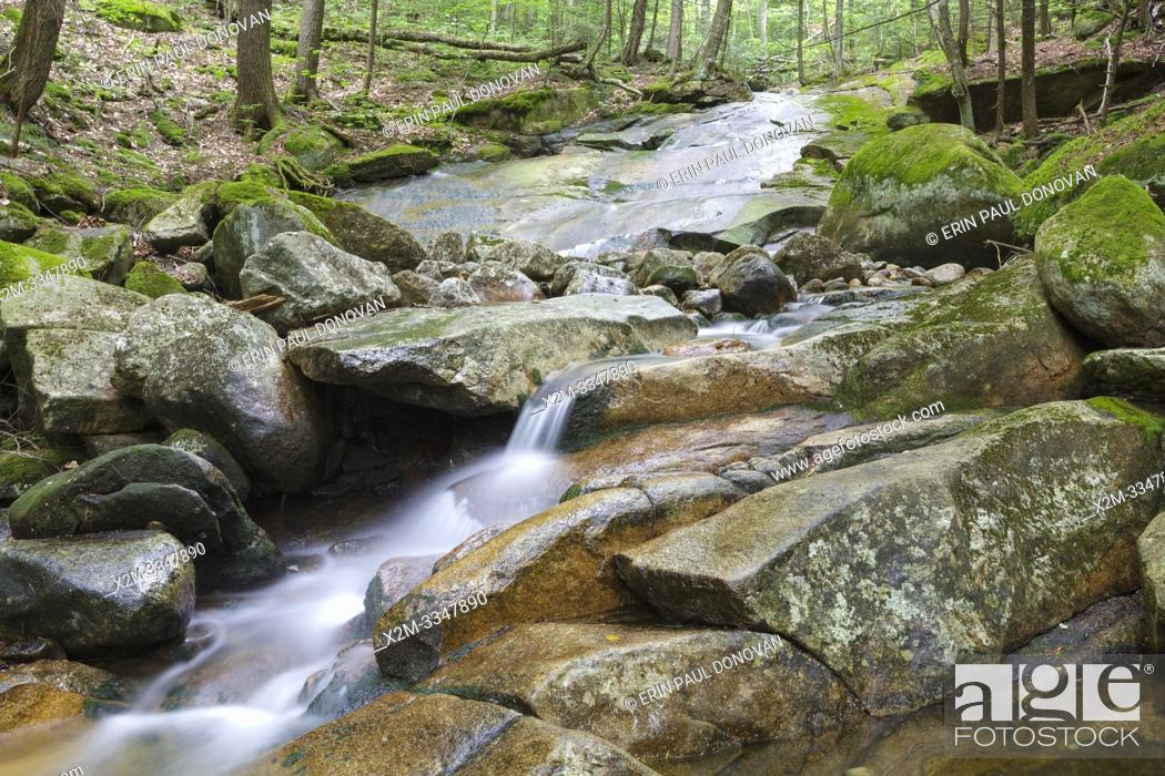 Stock Photo: Cascade on Pollard Brook in Lincoln, New Hampshire during the summer months.